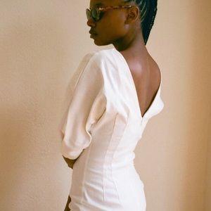 Sexy and stylish white dress! 🤩🤩🤩